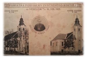 Pamiatka posviacky zväčšeného kostola